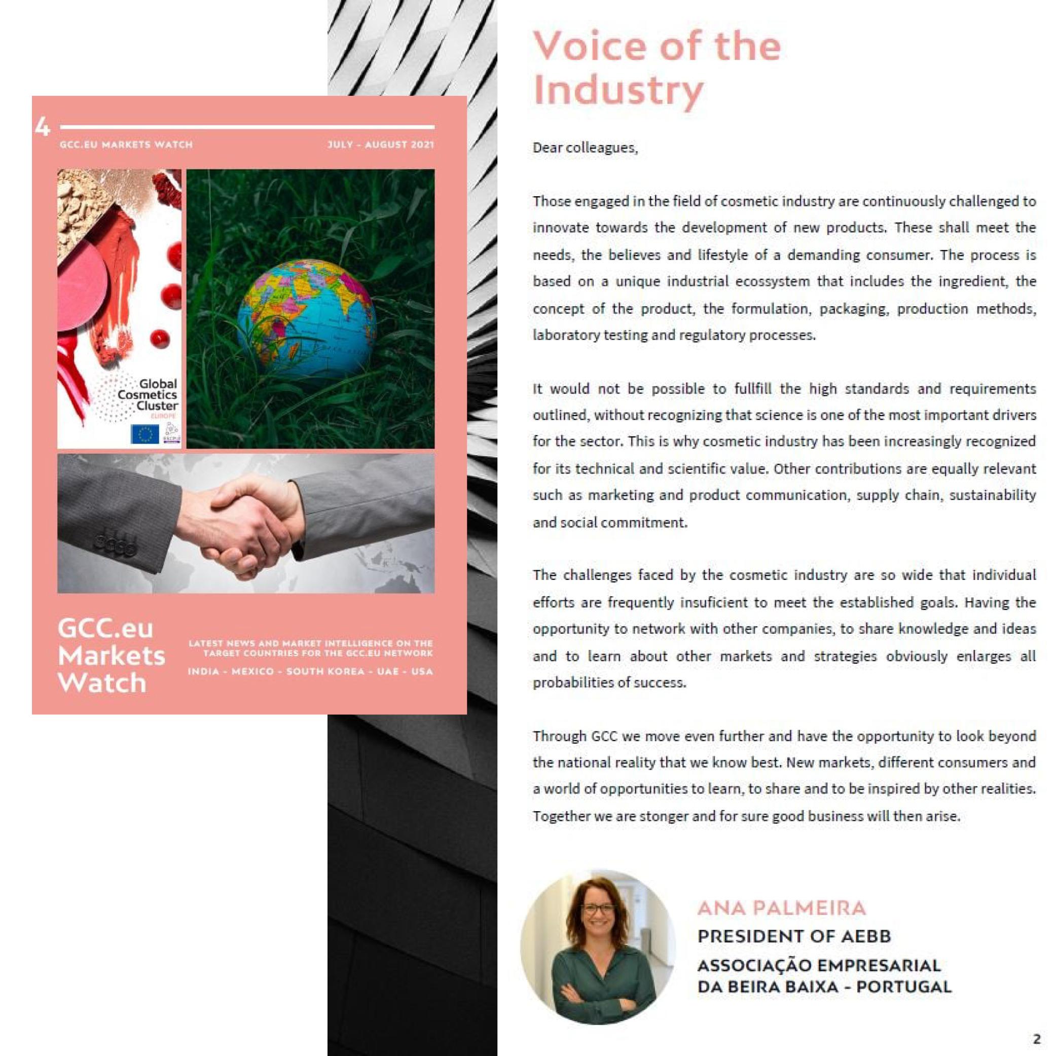 """""""A voz da Indústria"""" na Global Cosmetics Cluster"""