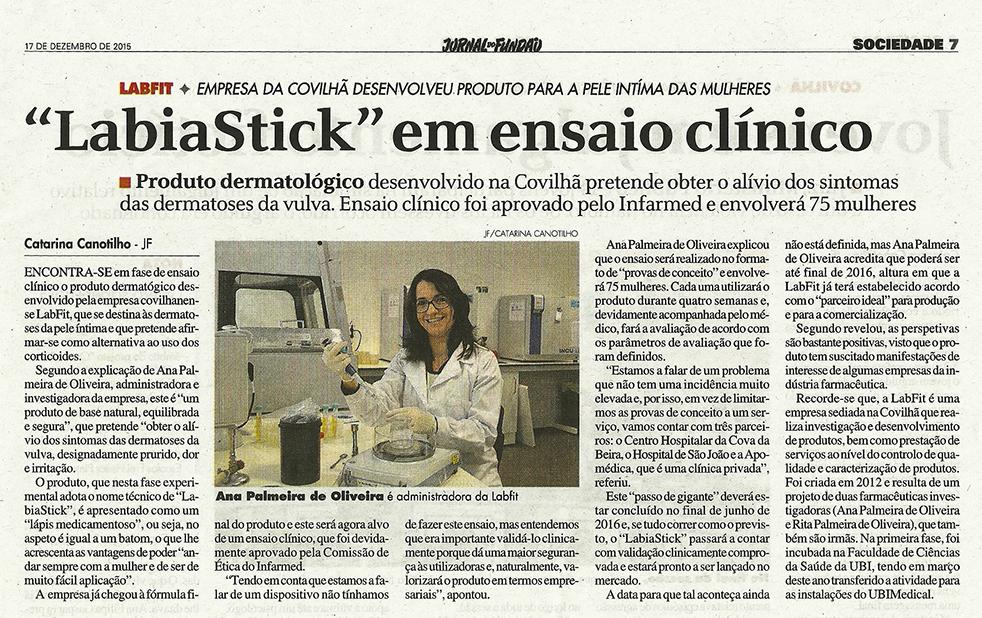Labiastick em ensaio clínico