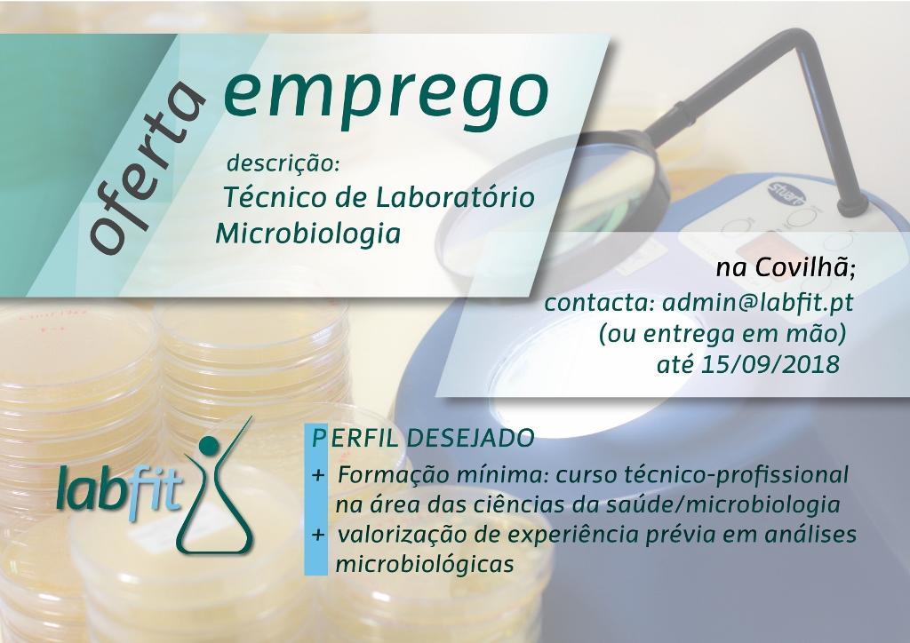 """Estamos a recrutar """"Técnic@ de Laboratório"""""""