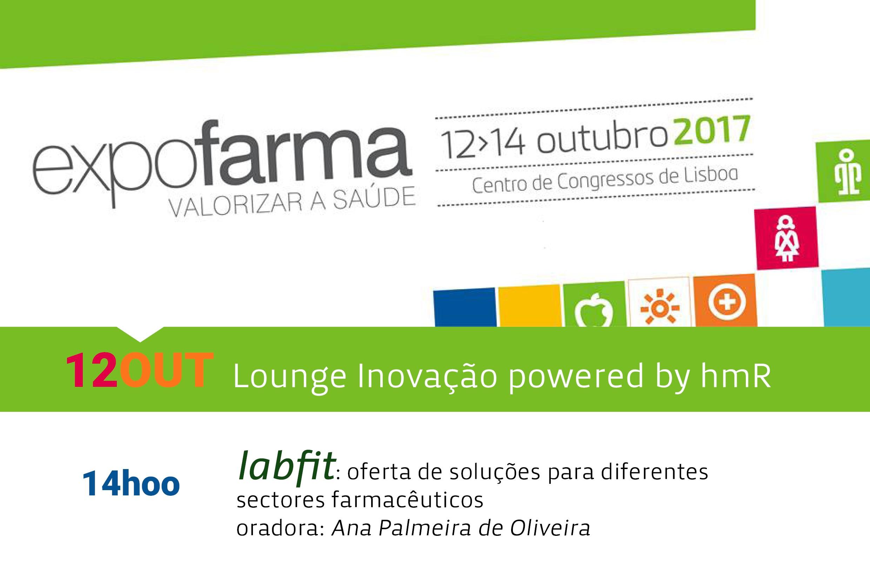 """Venha ouvir-nos no """"Lounge Inovação powered by hmR"""" da Expofarma 2017"""